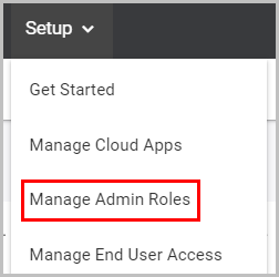 1. manage admin role
