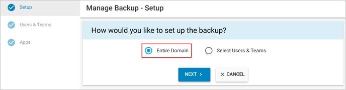 137. start backup_entire domain