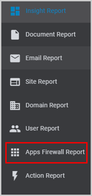 Apps Firewall Report