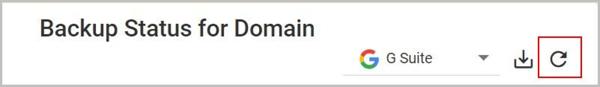 Backup Status for Domain - Refresh