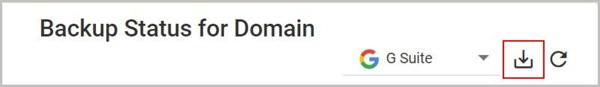 Backup Status for domain 1