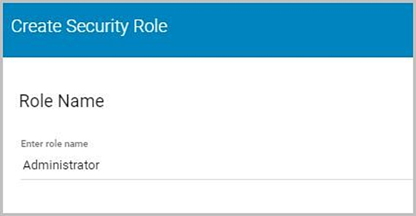 Create Security Role