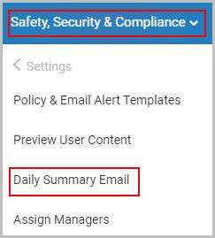 Daily Summary Email