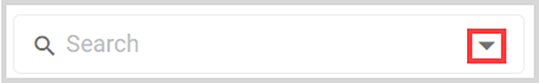 Drop down search button