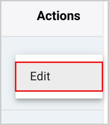 Edit actions