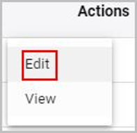Edit option