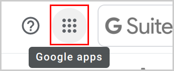 Google apps waffle