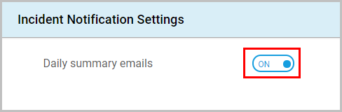 Incident Notification Settings