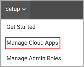Manage cloud apps