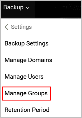 Manage groups