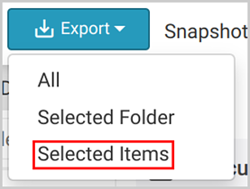 Office 365 export selected items