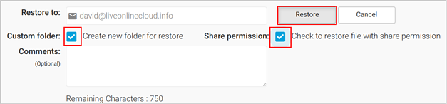 Office 365 restore with sharing permission