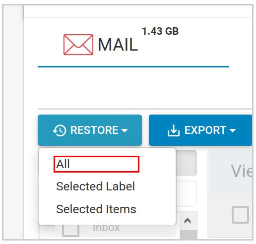 Restore Mail