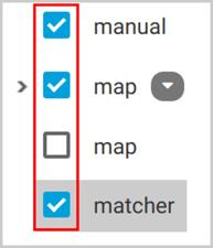 Select the folders