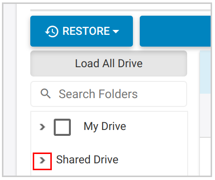 Shared Drive - Select folder