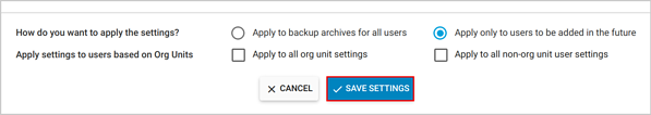 Shared drive - Save settings