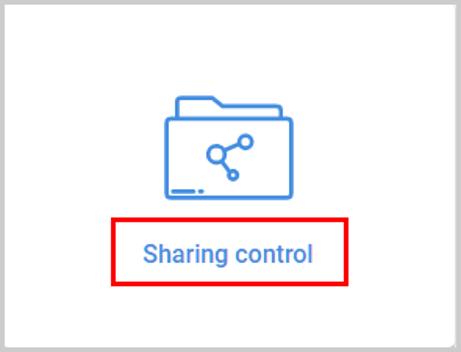 Sharing control