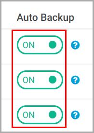 Start backup issue_ou level