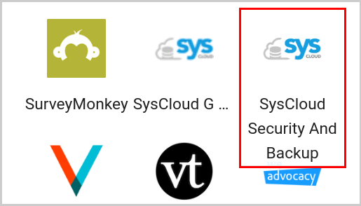 SysCloud security and backup