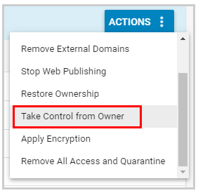 Take control from owner