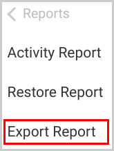 backup_export report