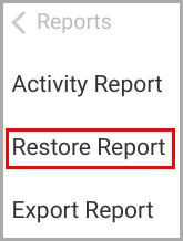 backup_restore report