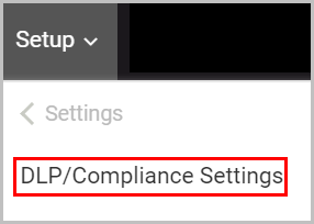 dlp_compliance settings