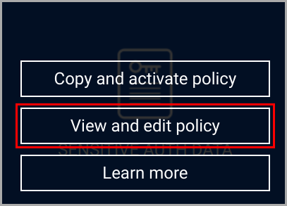 exclude file type_view and edit policy
