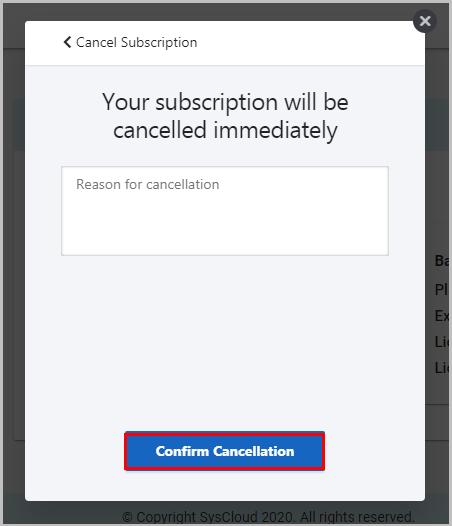 f. confirm cancellation