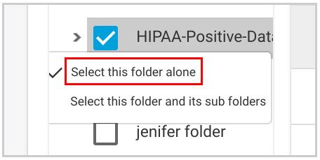 Restore Selected Folder