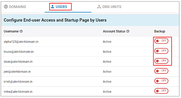 end-user access : select users