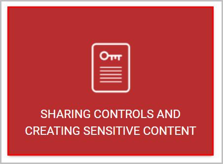 sharing controls and creating sensitive content