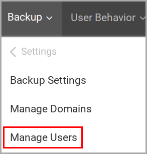 start backup issue_manage users