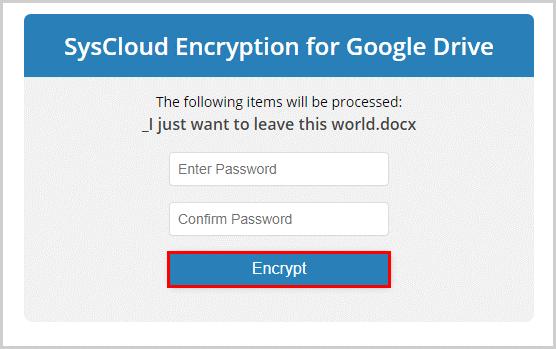 Confirm Encryption