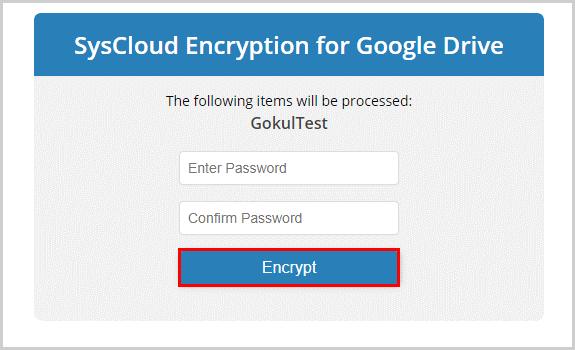 Encrypt Password