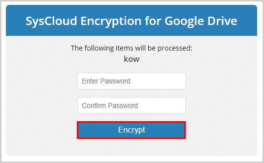 Encryption Password