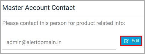 Master account contact
