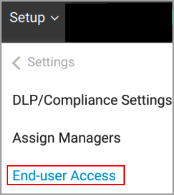 end-user access-1