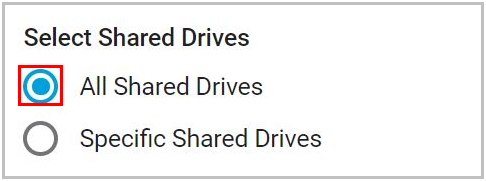 Select shared drives