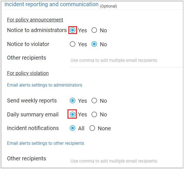 Incident reporting and communication
